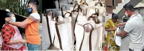 পলাশবাড়ীতে করোনাকালীন এবং রমজান উপলক্ষে অসহায়দের মাঝে স্বেচ্ছাসেবক লীগের খাদ্যসামগ্রী ও মাস্ক বিতরণ