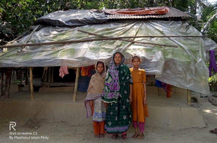 গলাচিপায় গৃহহীন রিজিয়া পেতে চান প্রধানমন্ত্রীর উপহার