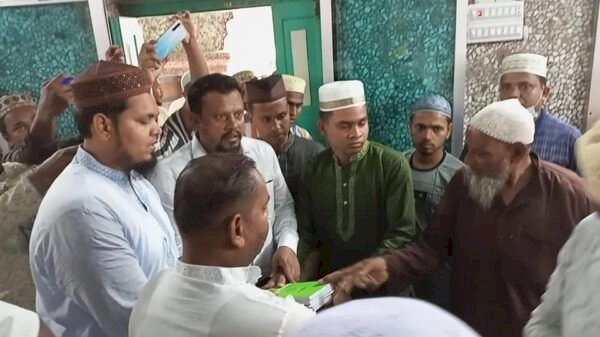 সৈয়দপুরে ইসলাম ধর্ম গ্রহন করলেন খ্রীস্টান পুলিশ সদস্য