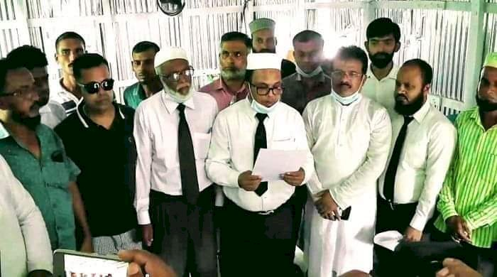 ঝালকাঠিতে বিএনপি কার্যালয় ভাঙচুরের প্রতিবাদে সংবাদ সম্মেলন